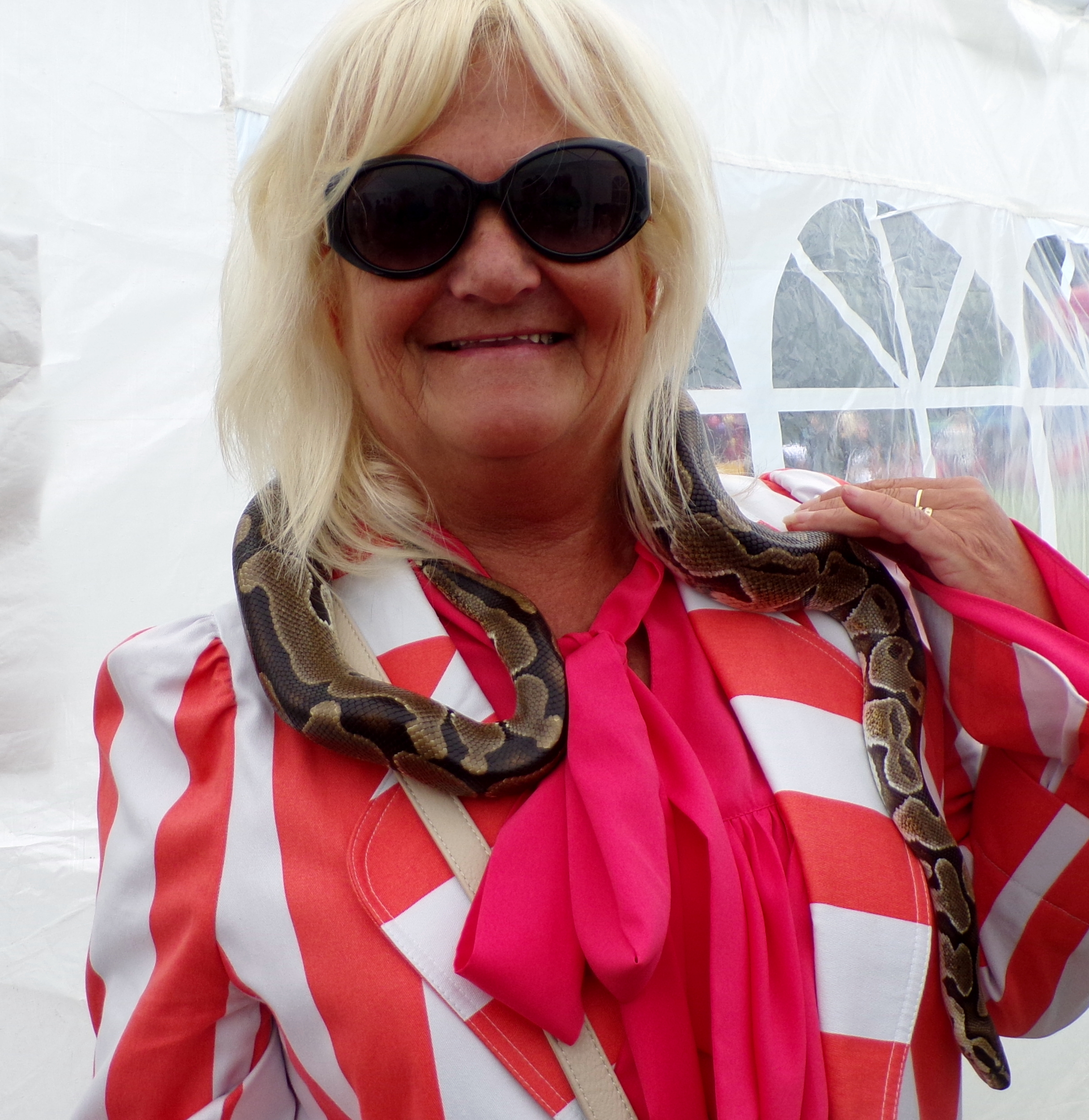 cllr james with a snake