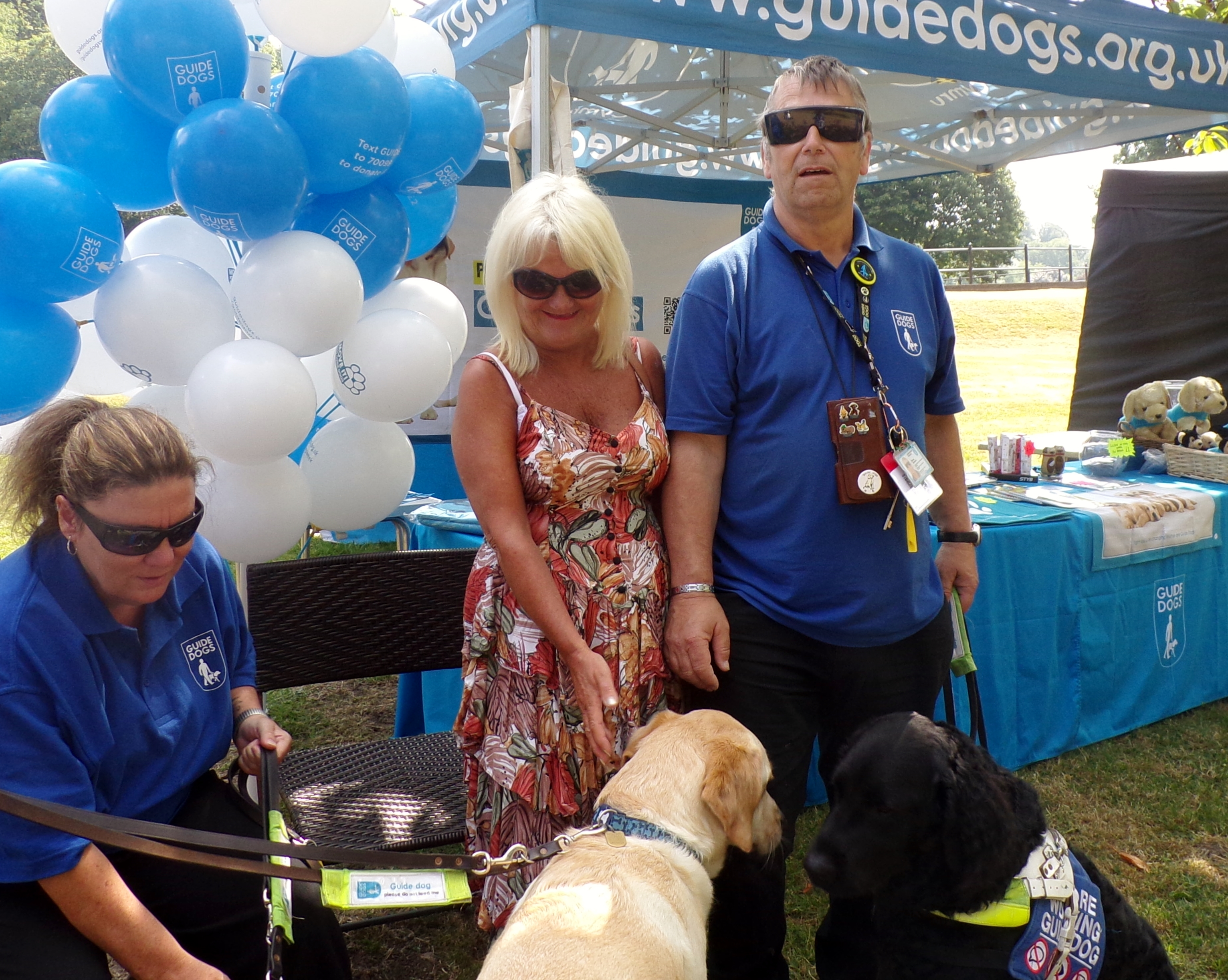 cllr james at the guide dog stand