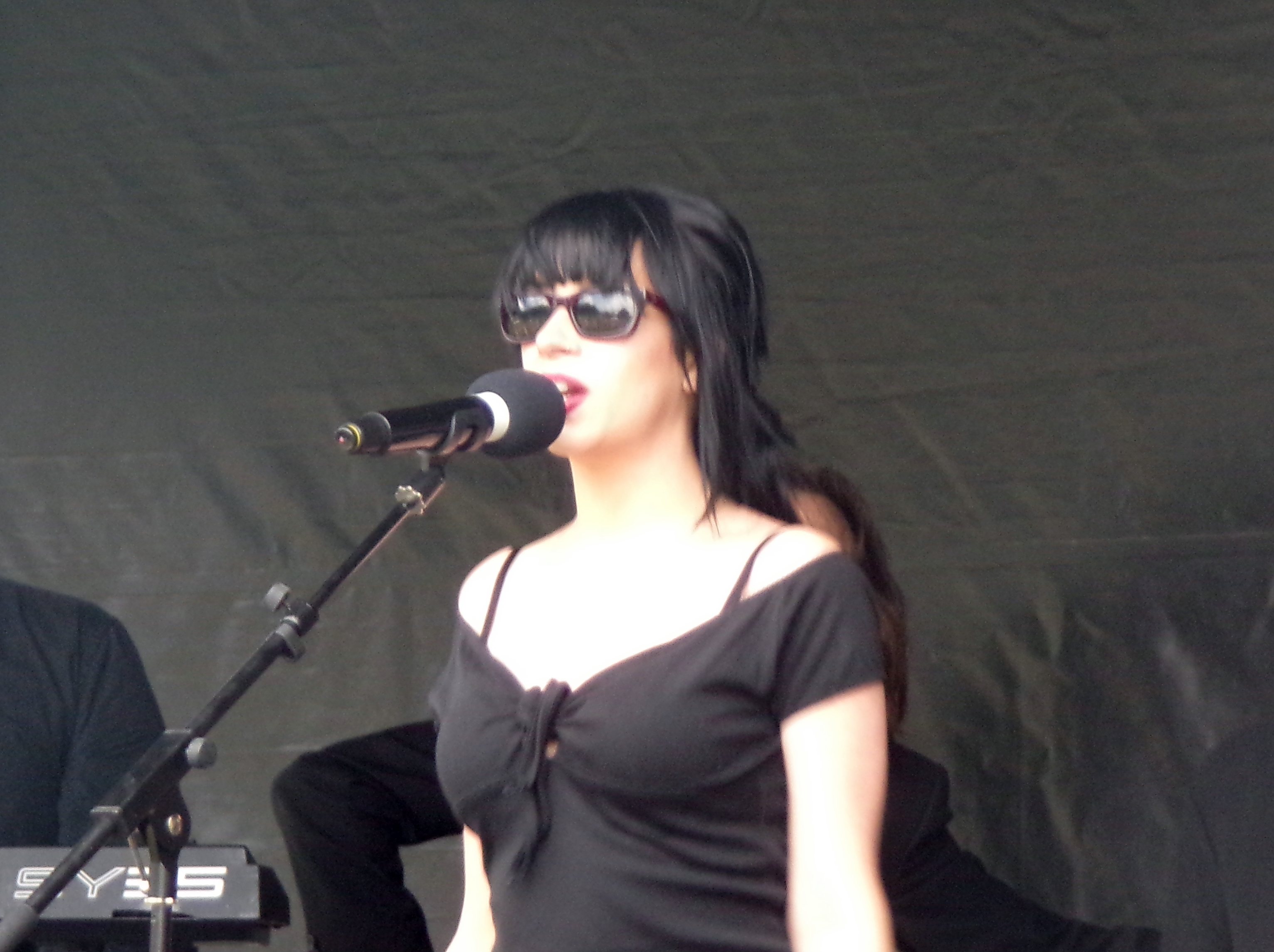 singer with sunglasses 5
