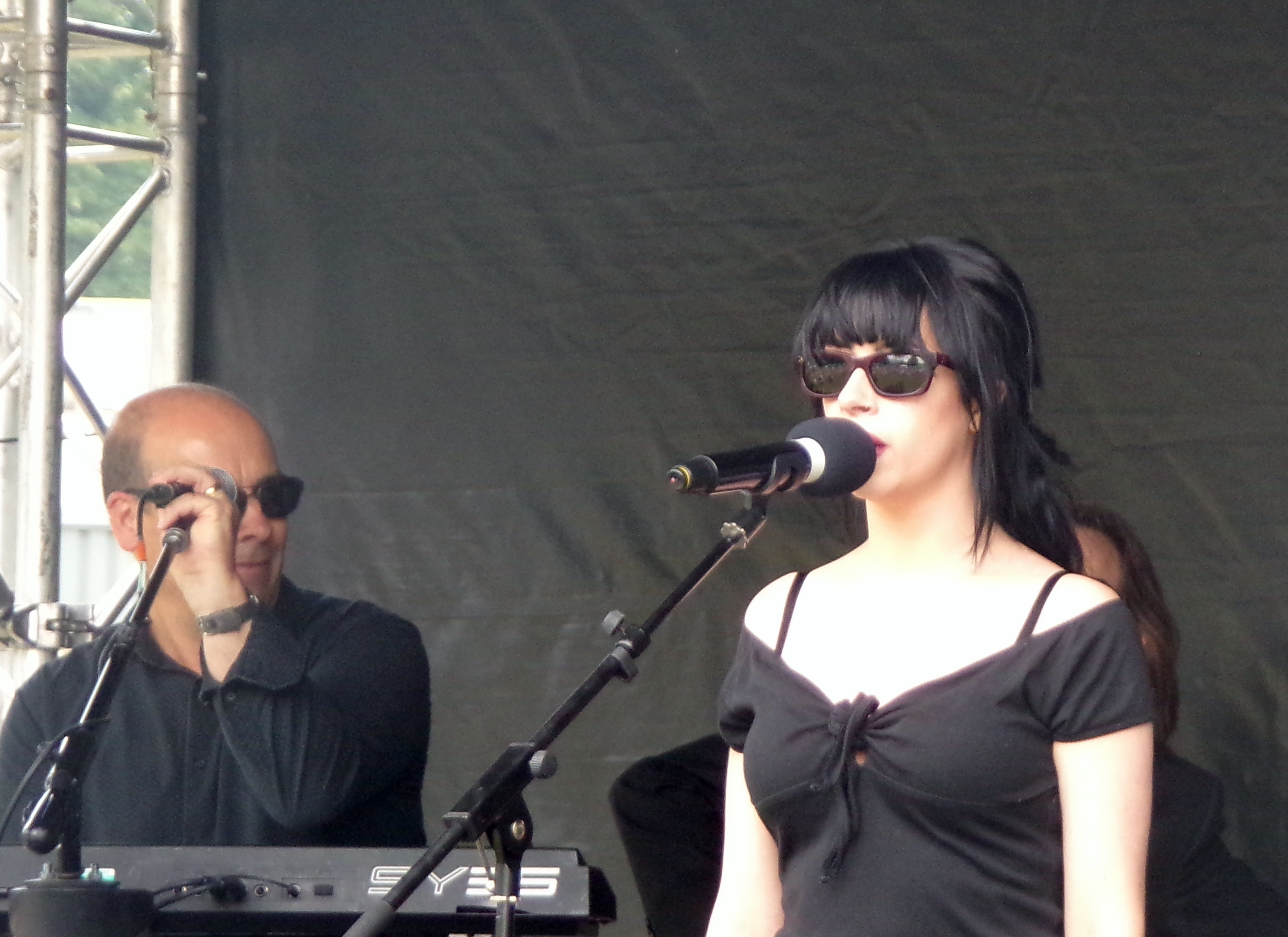 singer with sunglasses